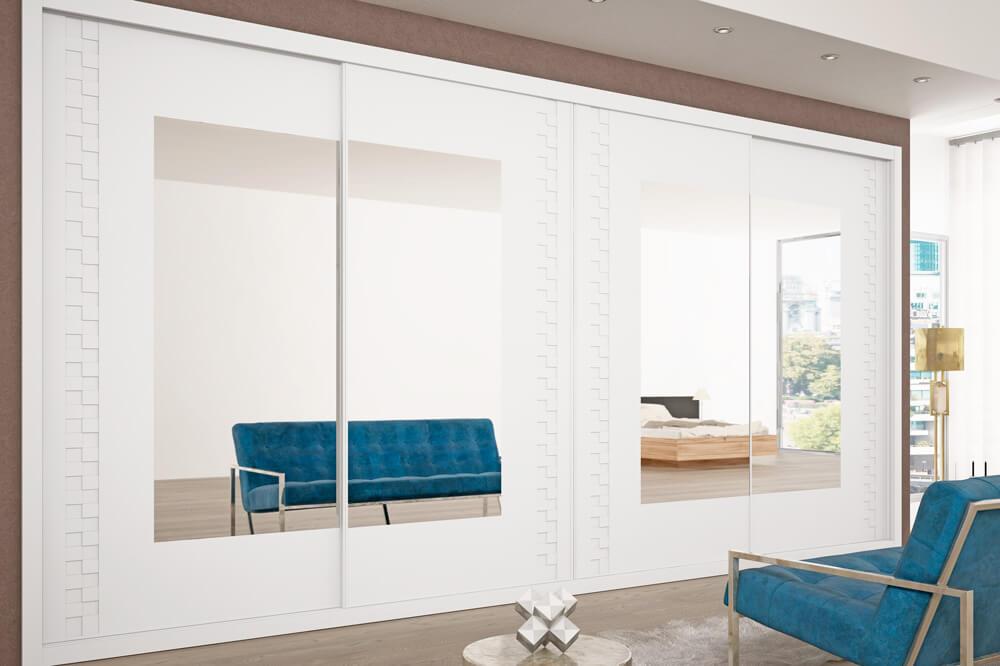 Armario-lacado-blanco-con-espejos